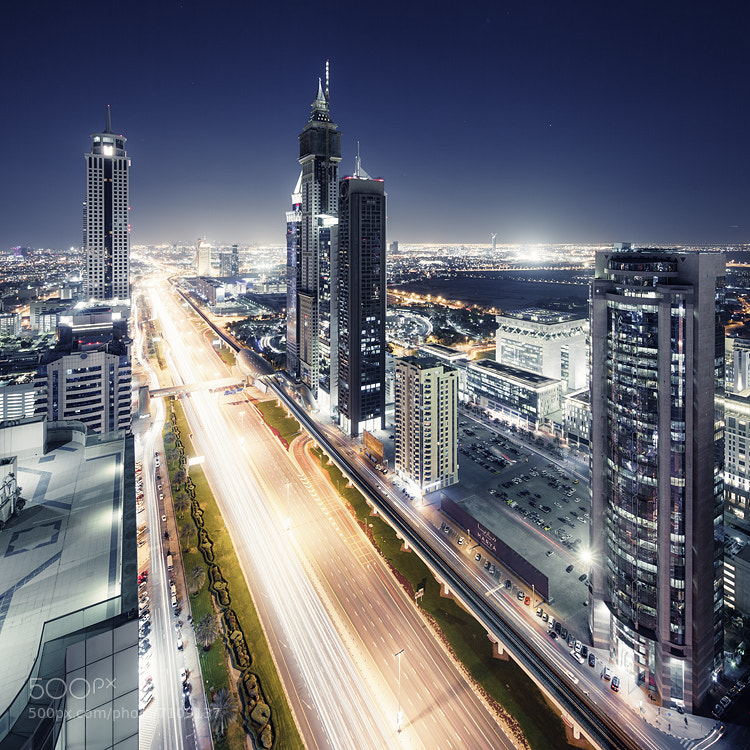 Photograph dubai lightstream by Jens  Fersterra on 500px