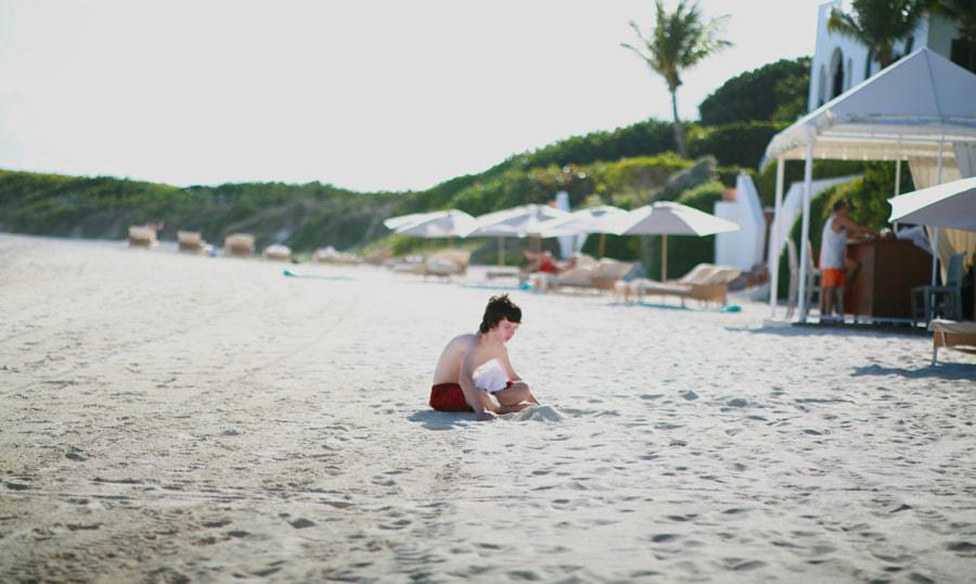 Alone in a big sand box