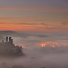 Another beautiful sunrise at Corfe Castle.