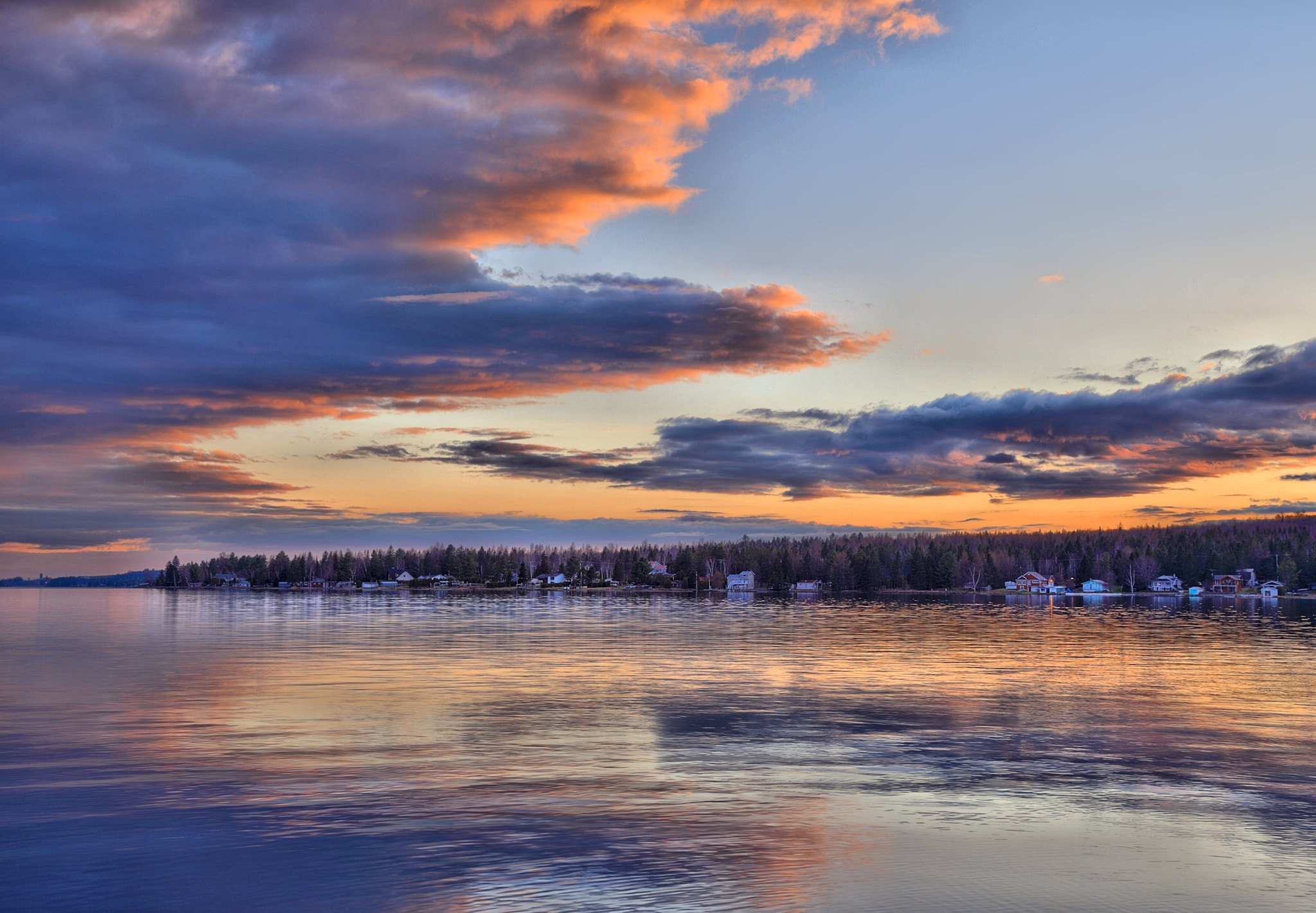 Photograph Sunset on the lake 1 by Jean-François Pidgeon on 500px