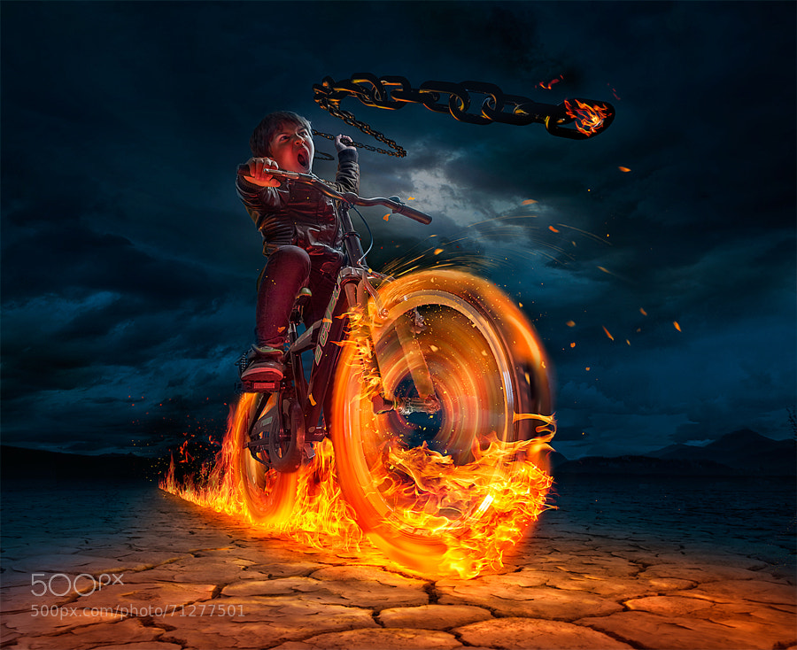 Photograph ghost rider :) by Adrian Sommeling on 500px