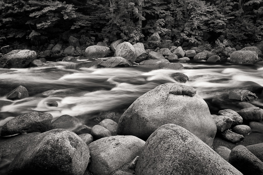 Photograph Swift River Black and White by Kurt Budliger on 500px