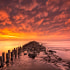 Bloodsky - Wadden sea, The Netherlands