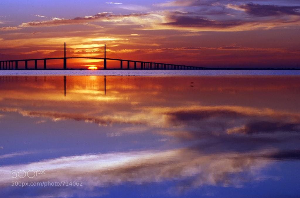 Photograph The Sunshine Skyway bridge at sunrise by Michael Skelton on 500px