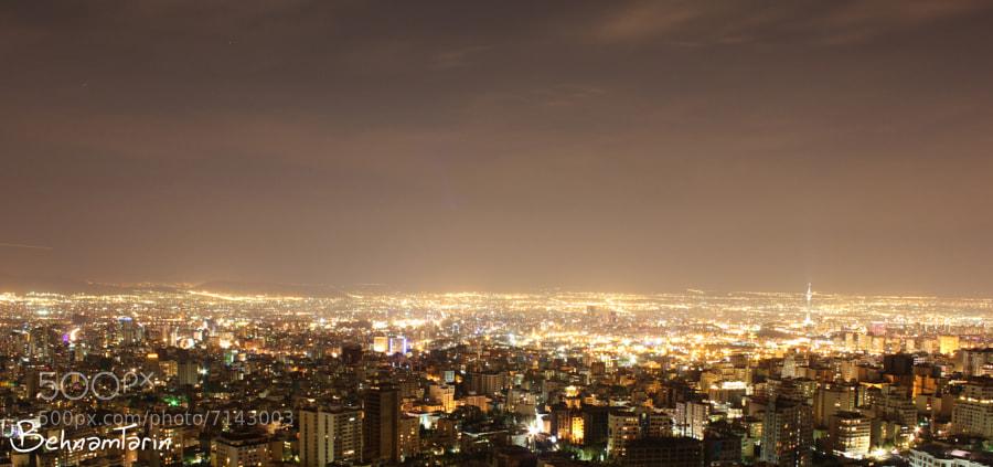 Tehran at night by behnam tarin (behnamtarin) on 500px.com