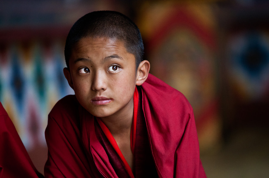 A Young Monk at Paro Dzong, Bhutan by Arun Bhat on 500px.com