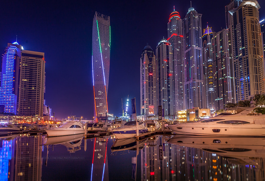 Dubai Marina - Night Reflection