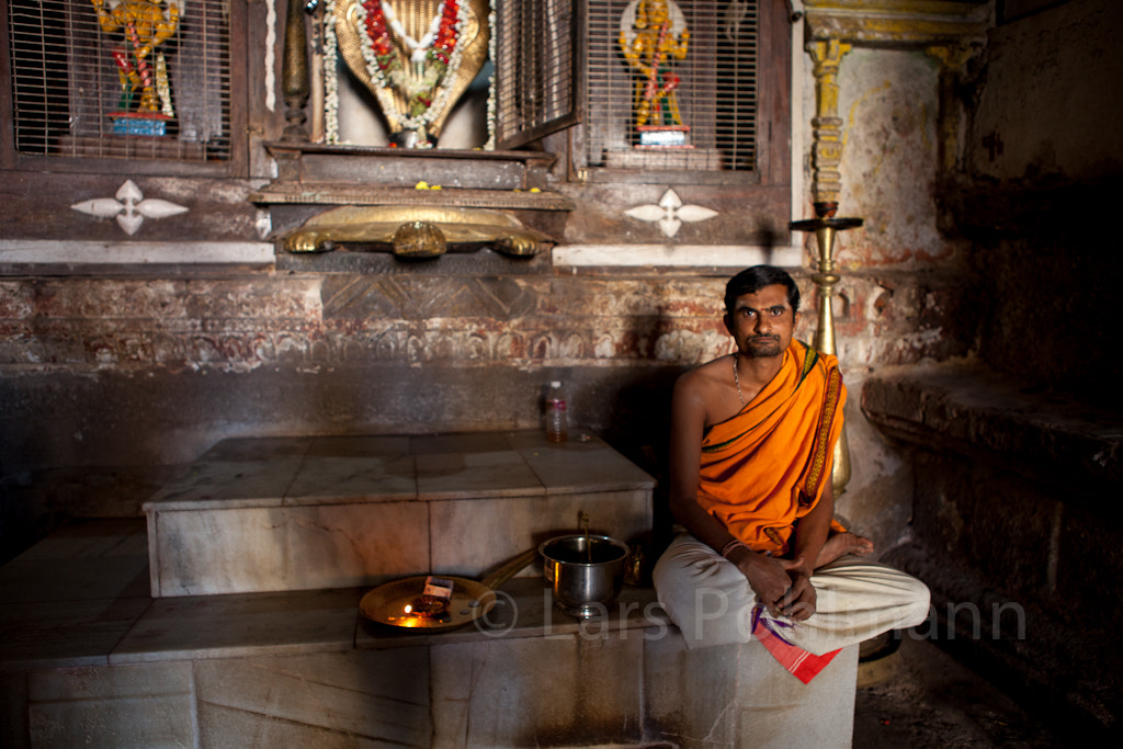 Photograph Brahmin Priest in a Temple in Hampi by Lars Pohlmann on 500px