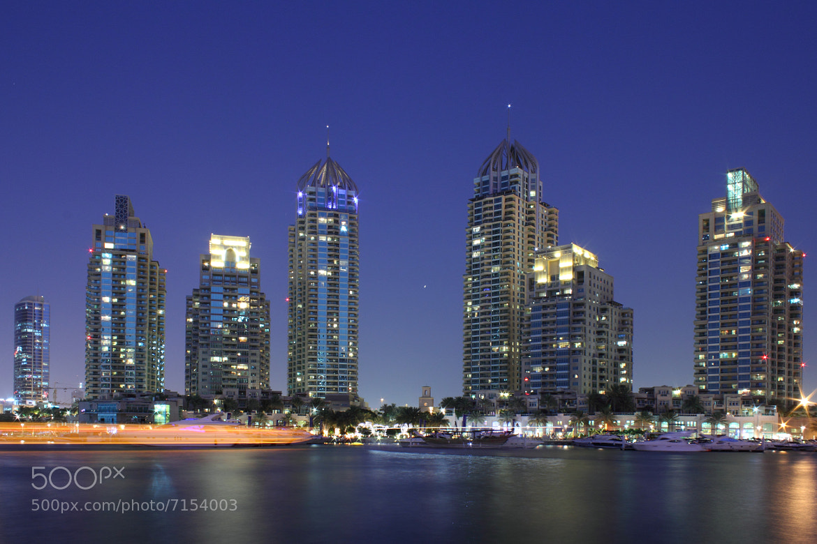 Photograph Dubai Marina at Blue Hour by Abhinav Bodas on 500px