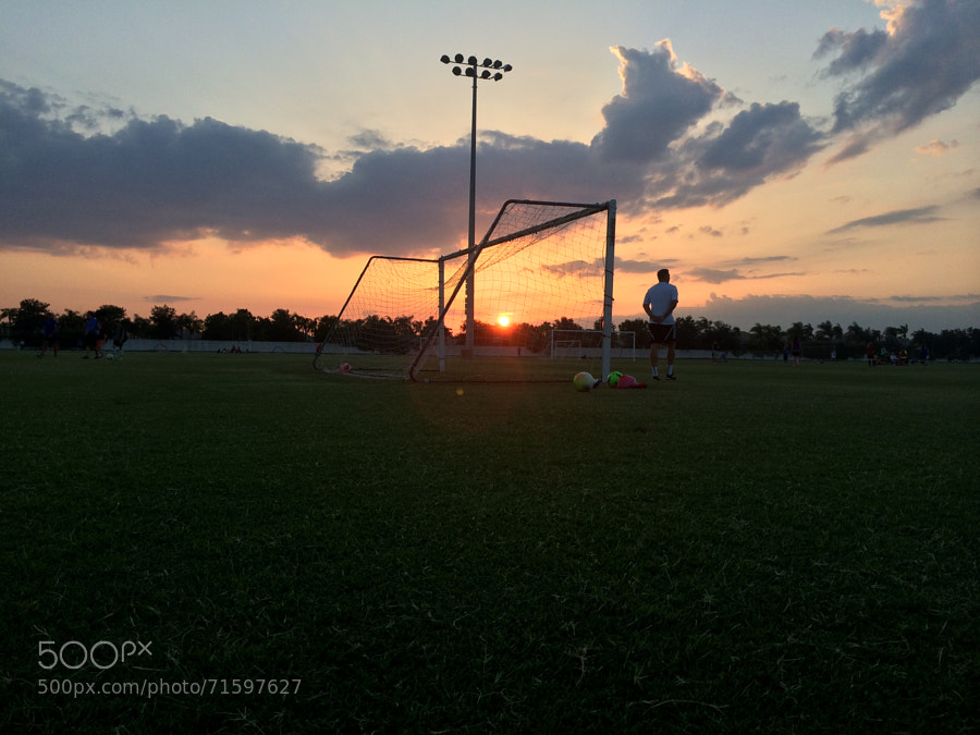 Photograph Sunset on the Soccer Field by Stacy White on 500px
