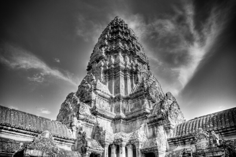 Photograph Angkor Wat Clouds by Guven Bayram on 500px