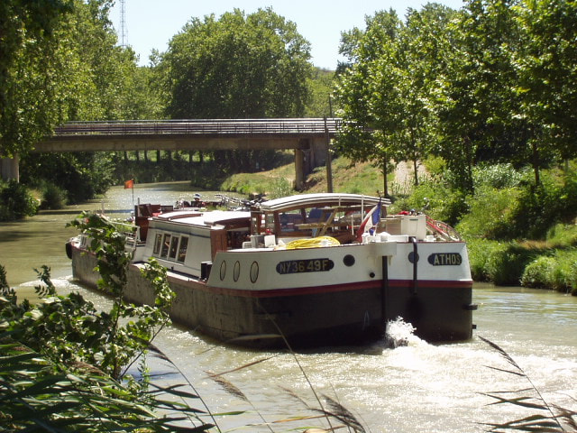 Photograph Homely barge on Canal du Midi, Aude, Languedoc, Southern France 3 by Chris Baldock on 500px