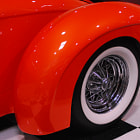 ������, ������: Classic Red Car with Whitewall Tires