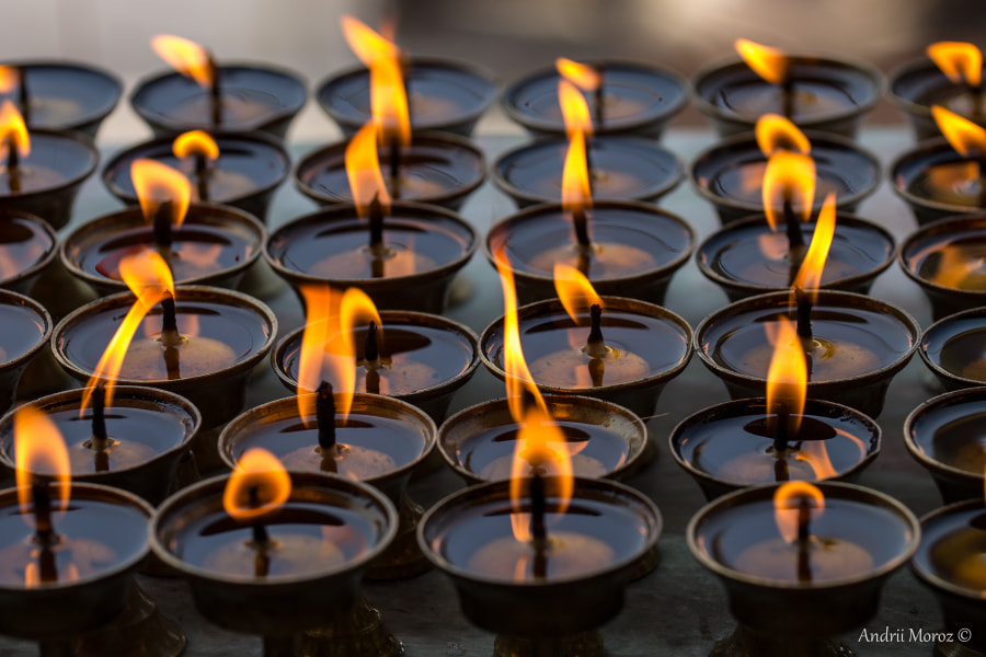 Photograph Buddhist candles by Andrii Moroz on 500px