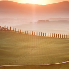 Morning in Val d'Orcia by Marcin Sobas (MarcinSobas)) on 500px.com