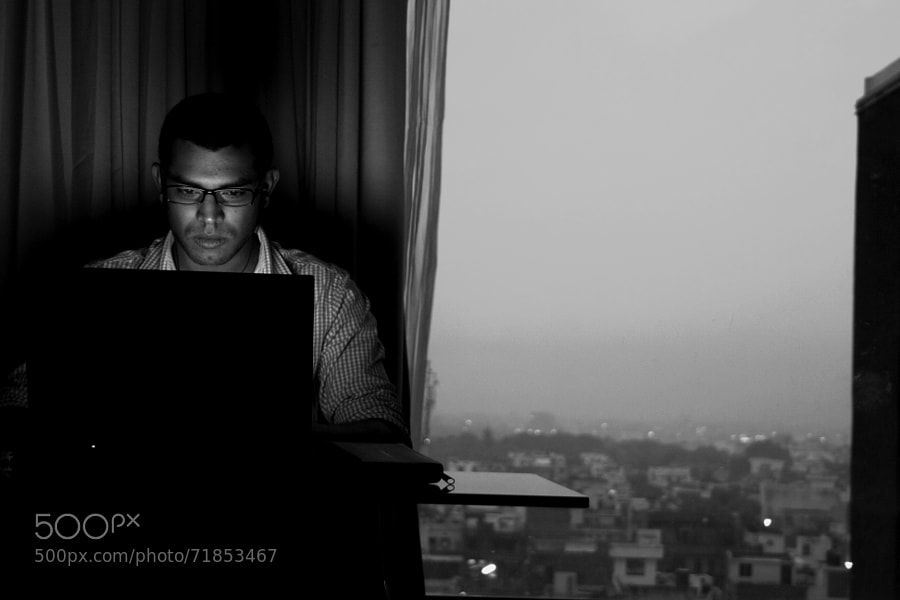 Photograph Working in the Dark by Korak Datta on 500px