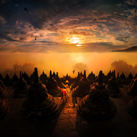 sunrise @ Borobudur by Weerapong Chaipuck on 500px.com