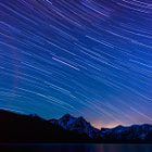 Постер, плакат: stanley lake startrails