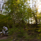 Постер, плакат: Sunset Enduro Racer
