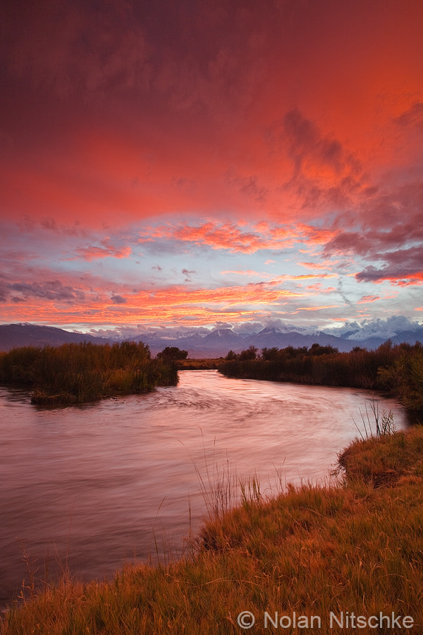 Photograph Epic Owens River Sunset by Nolan Nitschke on 500px
