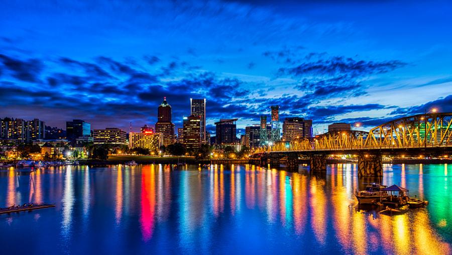 3. Portland blue hour