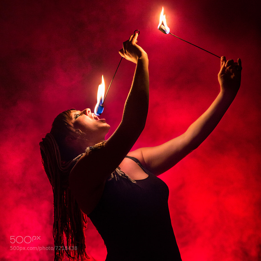 Photograph Fire Eater in Red by Jeremy Hall on 500px