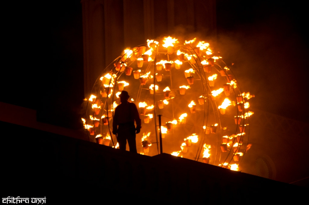 Photograph Fire show by Chithra  P Unni on 500px