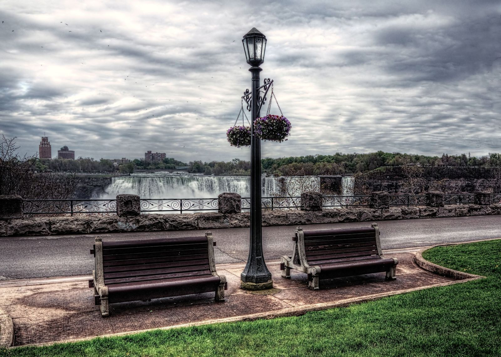 Photograph Niagara Benches After the Rain by Grant MacDonald on 500px