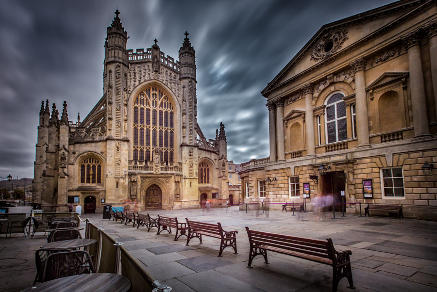 Bath - Abbey and The Roman Baths by Les Kancir on 500px.com