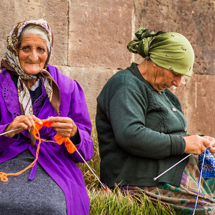 Two Old Women Knitting
