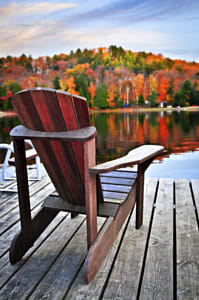 Wooden dock on autumn lake by Kimberly Potvin on 500px