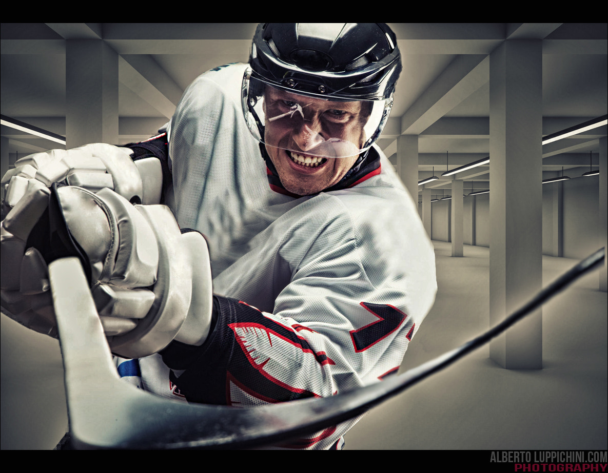 Photograph Hockey player ! by Alberto Luppichini on 500px