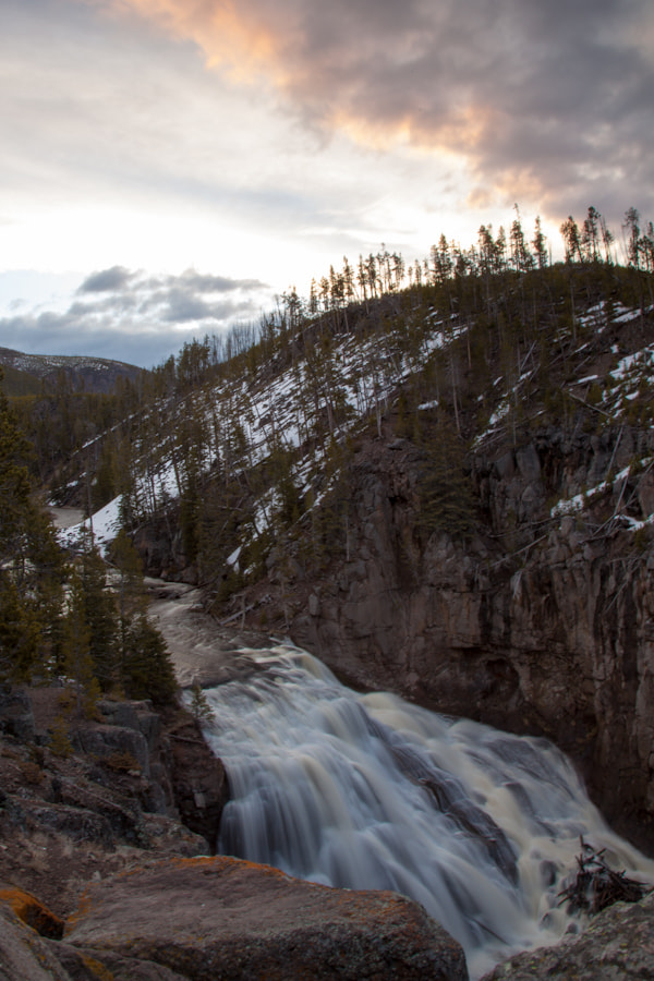 Photograph Yellowstone Waterfall by Justin Bloom on 500px