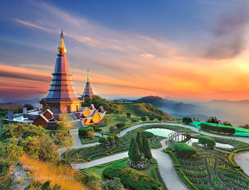 Photograph Double pagoda, Thailand by Kittipop Laohakul on 500px