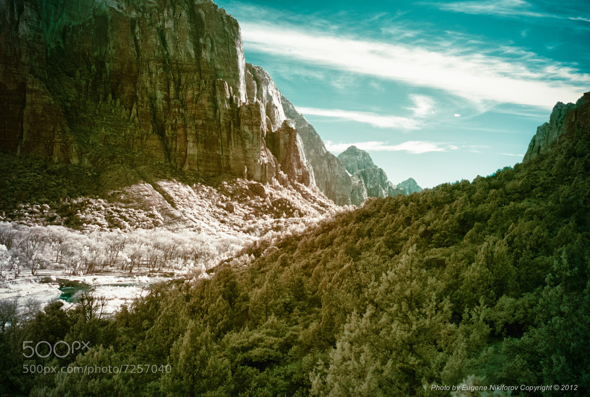 Photograph Zion National Park, infrared HDR by Eugene Nikiforov on 500px
