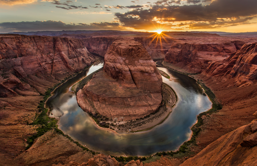Last light at The Horseshoe Bend by Rahul Khandelwal on 500px.com