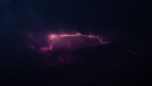 purple lightning by Brian Wilson on 500px