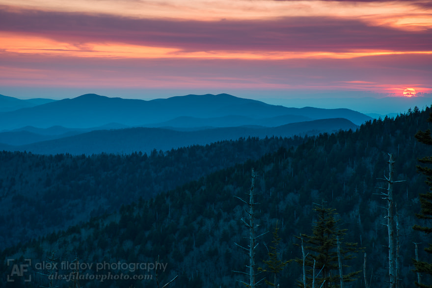 Photograph Red Appalachian Sun by Alex Filatov | alexfilatovphoto.com on 500px