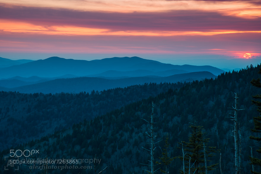 Photograph Red Appalachian Sun by Alex Filatov | alexfilatovphoto.com on 500px