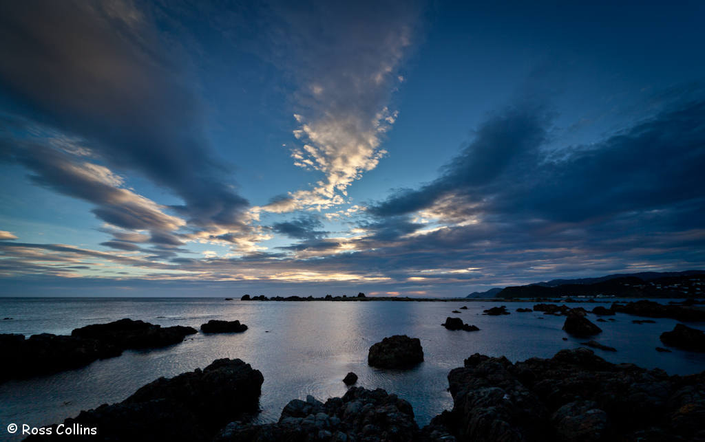 Photograph Sunset at Tarakena Bay by Ross Collins on 500px
