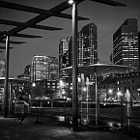 ������, ������: The Rose Kennedy Greenway in Boston at night