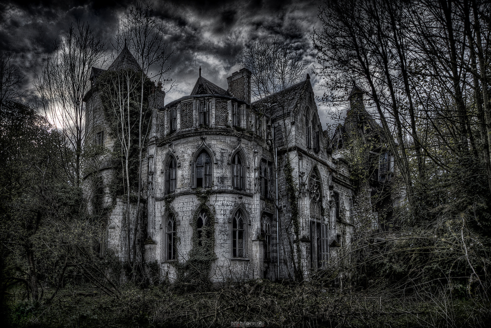 Photograph creepy chateau clochard by Christoph Klinger on 500px