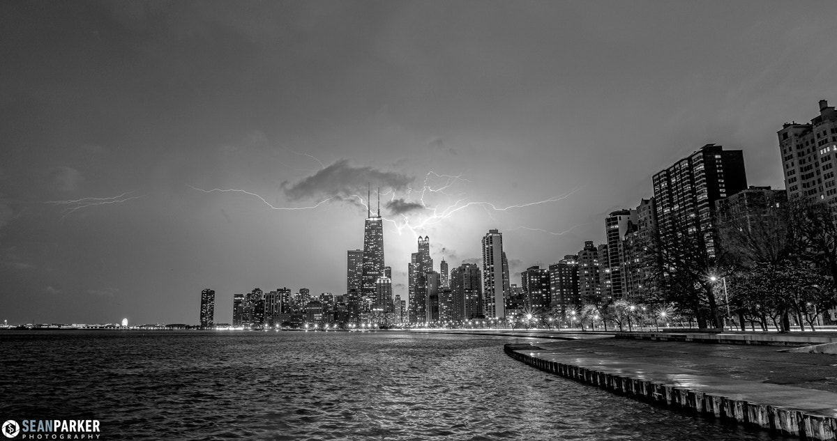 Photograph Lightning over Downtown Chicago by Sean Parker on 500px