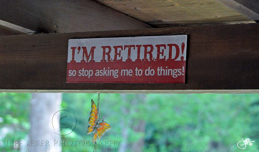 Photograph Retired Sign by Jeff Jeter on 500px