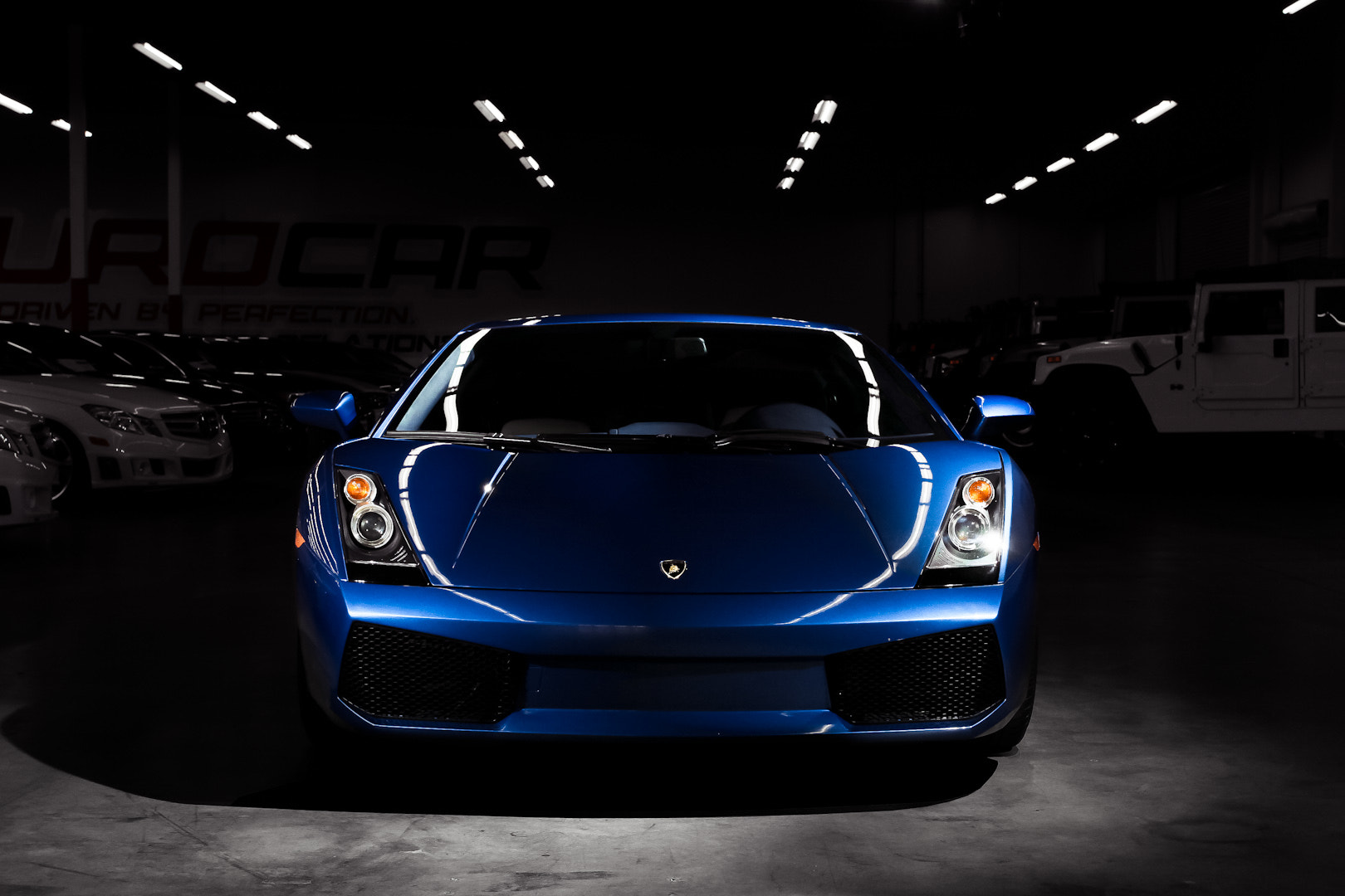 Photograph Blue Lamborghini Gallardo by Philip Tieu on 500px