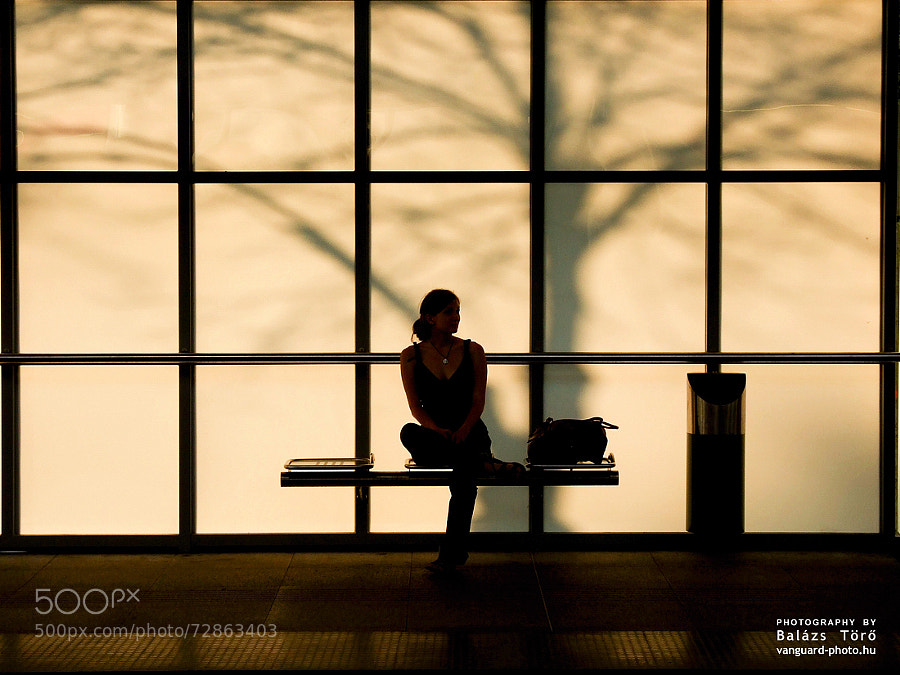 Photograph Girl at the station by Balázs Tör? on 500px