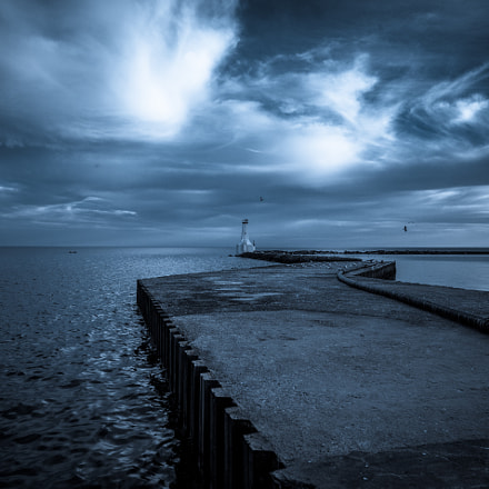 Dramatic Skies and Lighthouse