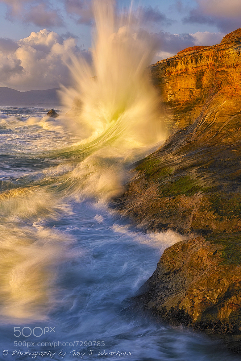 Photograph A wave at Cape Kiwanda by Gary Weathers on 500px
