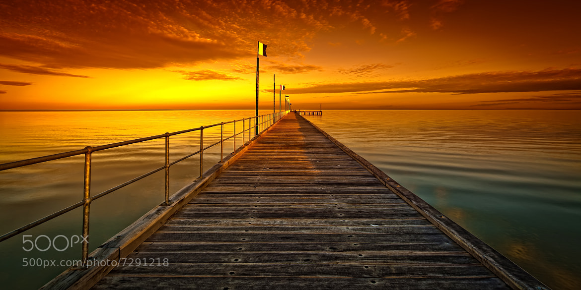 Photograph Frankston Pier - Orange by Oat Vaiyaboon on 500px