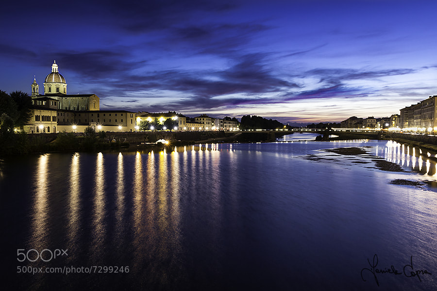 Photograph Blue hour on Arno, Firenze by Daniele Capra on 500px